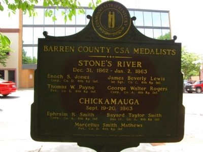 Barren County CSA Medalists Marker image. Click for full size.