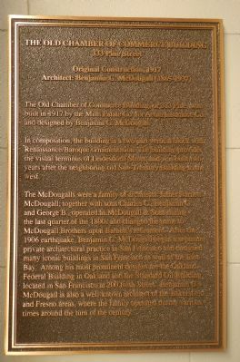 The Old Chamber of Commerce Building Marker image. Click for full size.
