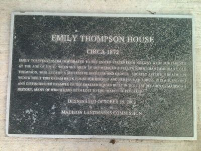 Emily Thompson House Marker image. Click for full size.