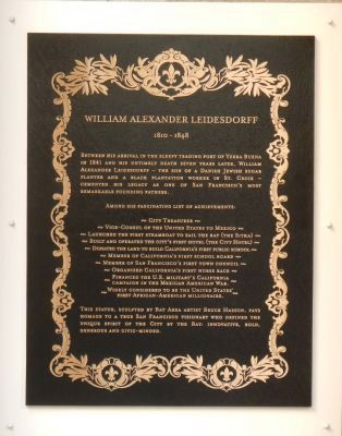 William Alexander Leidesdorff Marker image. Click for full size.