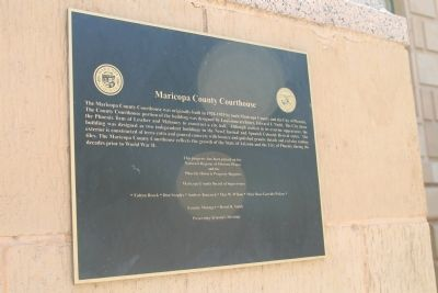 Maricopa County Courthouse Marker image. Click for full size.