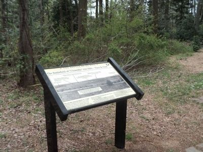 Marker on the Ox Hill Battlefield image. Click for full size.