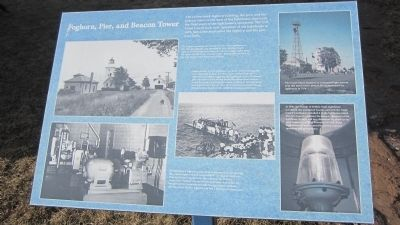 Foghorn, Pier, and Beacon Tower Marker image. Click for full size.