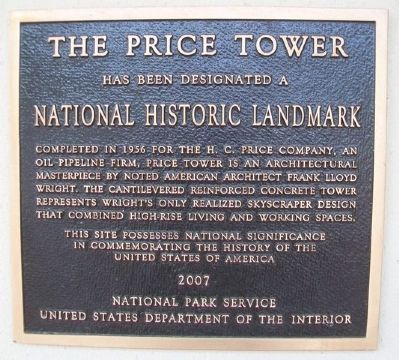 The Price Tower NHL Marker image. Click for full size.