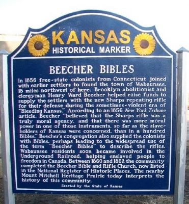 Beecher Bibles Marker (Side B) image. Click for full size.