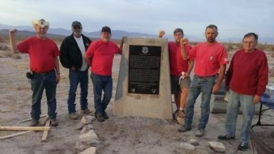 36th Evacuation Hospital (SM) Marker with Re-Erection Crew image. Click for full size.