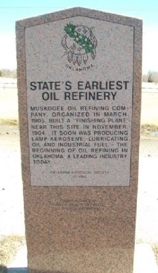 State's Earliest Oil Refinery Marker image. Click for full size.