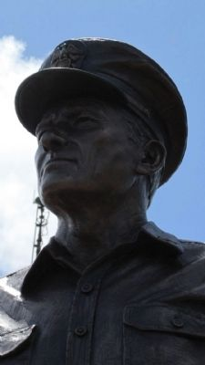 Fleet Admiral Chester W. Nimitz, USN statue image. Click for full size.
