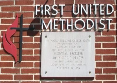 Methodist Episcopal Church, South NRHP Marker image. Click for full size.