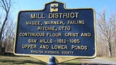 Mill District Marker image. Click for full size.