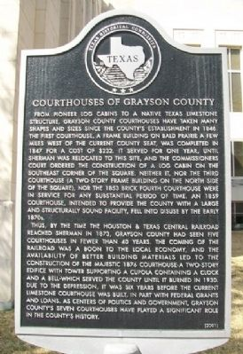 Courthouses of Grayson County Marker image. Click for full size.