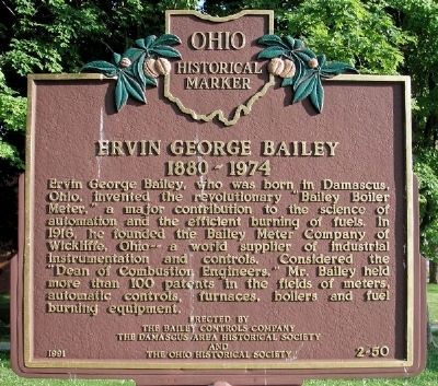 Ervin George Bailey Marker image. Click for full size.
