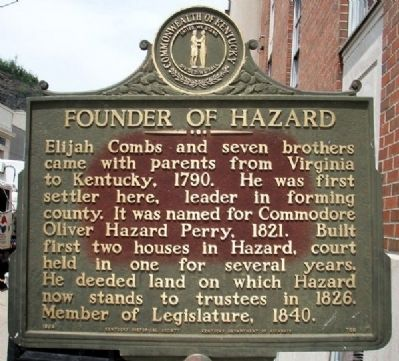 Founder of Hazard Marker image. Click for full size.