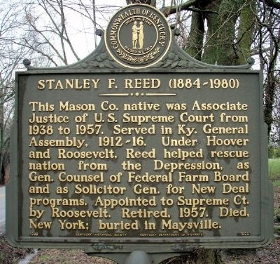 Stanley F. Reed (1884-1980) Marker image. Click for full size.