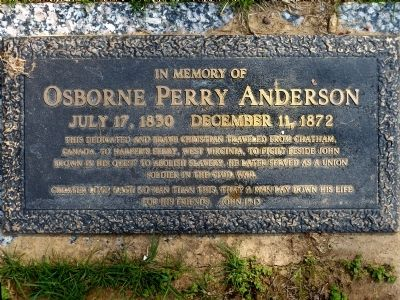 Osborne Perry Anderson Marker image. Click for full size.