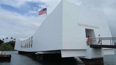 U.S.S. Arizona Memorial image. Click for full size.