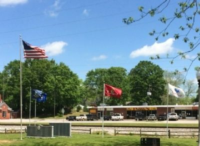 Thorsby Remembers Our Veterans Memorial & Flags image. Click for full size.