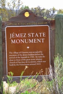 Jémez State Monument Marker image. Click for full size.