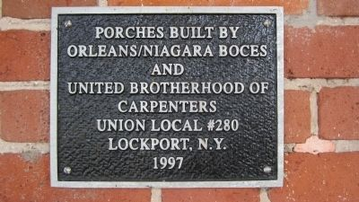 Home of James Van Horn Porches Plaque image. Click for full size.