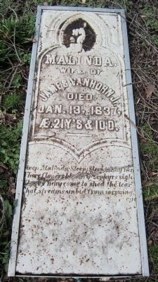 Gravestone of Malina Van Horn image. Click for full size.