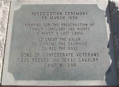 The First Confederate Monument Erected in Texas S.C.V. image. Click for full size.