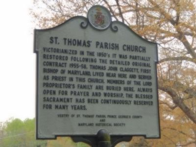 St. Thomas' Parish Church Marker image. Click for full size.