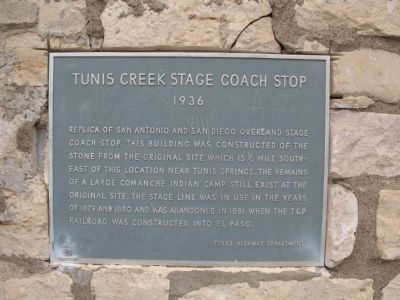 Tunis Creek Stage Coach Stop Marker image. Click for full size.