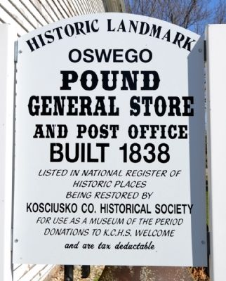 Pound General Store and Post Office Marker image. Click for full size.