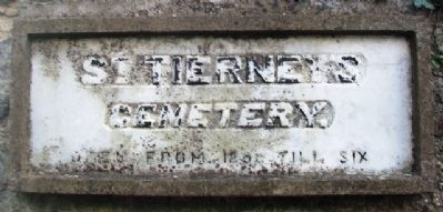 St. Tierney's Cemetery Entrance Sign image. Click for full size.