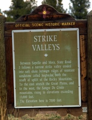 Strike Valleys Marker image. Click for full size.