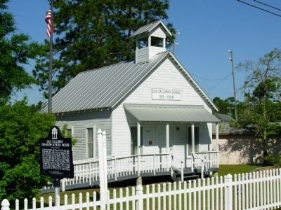 Old Callaway One Room School House Marker image. Click for full size.