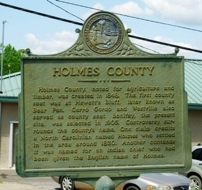 Holmes County Marker image. Click for full size.
