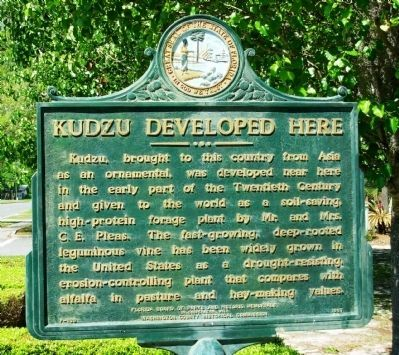 Kudzu Developed Here Marker image. Click for full size.