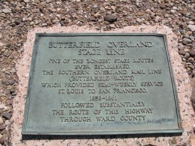 Butterfield Overland Stage Line Marker image. Click for full size.