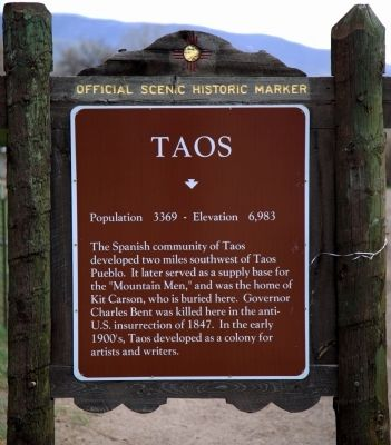 Taos Marker image. Click for full size.