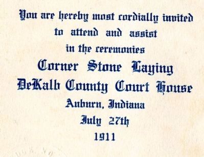 DeKalb County Courthouse Dedication 1911 image. Click for full size.