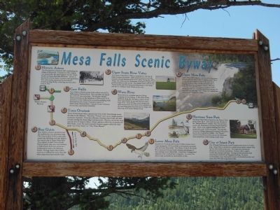Mesa Falls Scenic Byway Sign image. Click for full size.