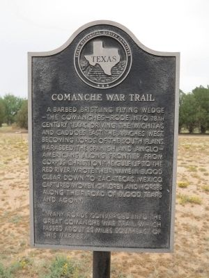 Comanche War Trail Marker image. Click for full size.