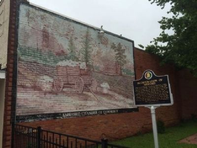 Mural and marker in W.S. McArthur, Sr Park image. Click for full size.