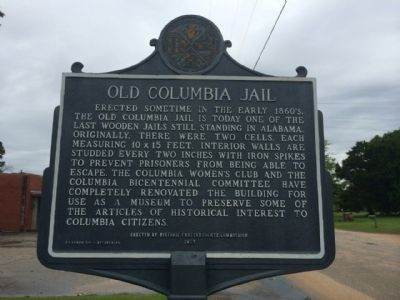Old Columbia Jail Marker image. Click for full size.
