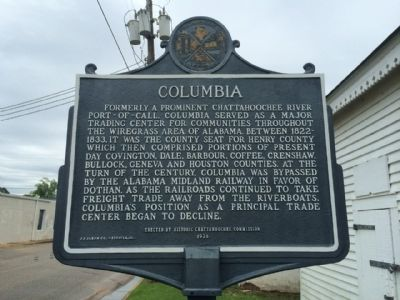 Columbia Marker image. Click for full size.