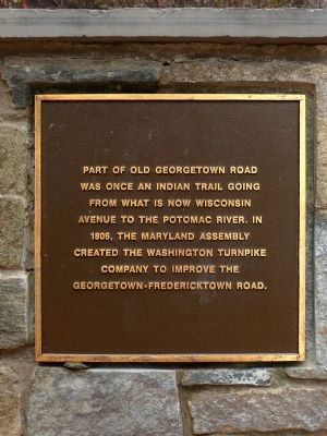 Old Georgetown Road Marker image. Click for full size.