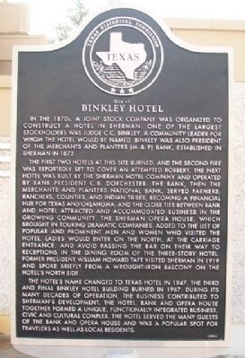 Site of Binkley Hotel Marker image. Click for full size.