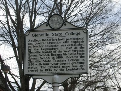 Glenville State College Marker image. Click for full size.