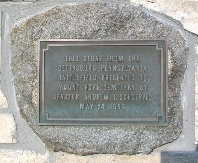 Gettysburg Stone and Marker image. Click for full size.