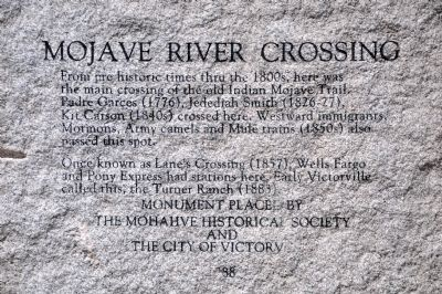 Mojave River Crossing Marker image. Click for full size.