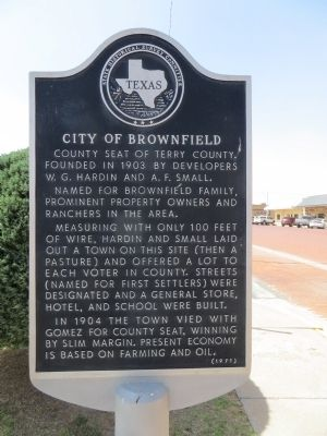 City of Brownfield Marker image. Click for full size.