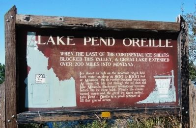 Lake Pend Oreille Marker image. Click for full size.