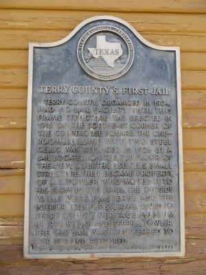 Terry County's First Jail Marker image. Click for full size.