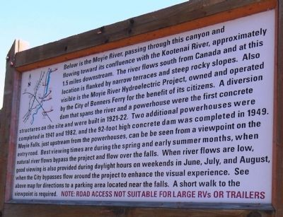 Moyie River Canyon Marker (<i>back side</i>) image. Click for full size.